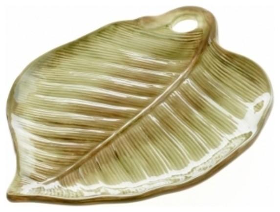 Certified International Las Palmas 3-D Palm Leaf Plate - Tropical ...