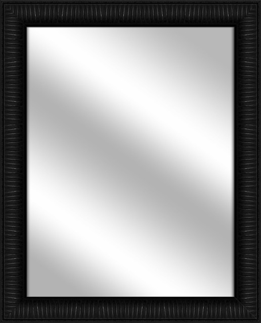Over the sink Vanity Mirror, Black, 26.375x32.375 by PTM IMAGES