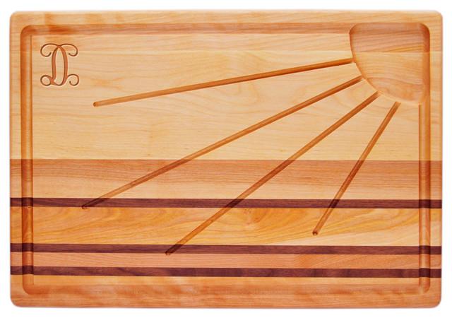 Integrity Sunburst Board With Vine Initial A Modern
