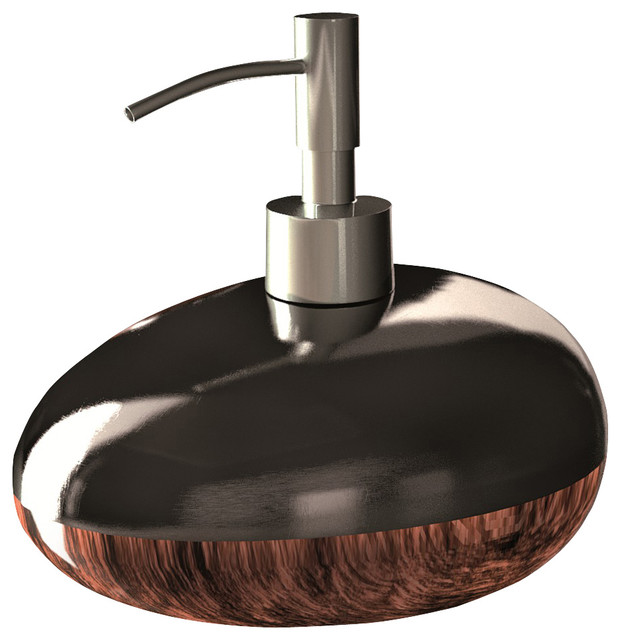 Glamour Bathroom Accessory Set Brown Black Modern Bathroom Accessory Sets