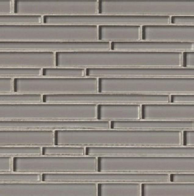 Pebble Interlocking Grey Crystallized Gl Mosaic Tile Backsplash 12x12 8mm