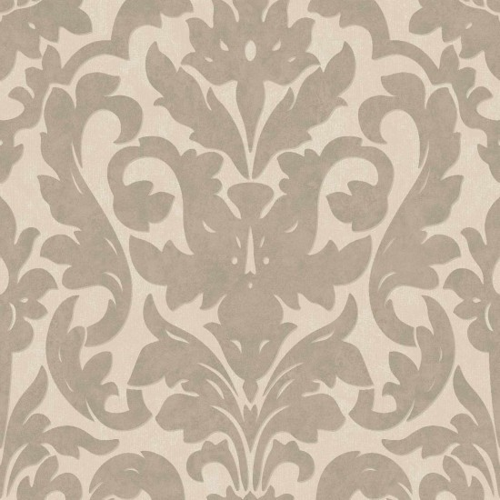 Damask Taupe Rug: Dalarni Damask Pattern Wallpaper