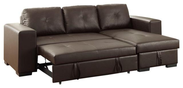 Polyurethane 2-Piece Convertible Sectional Sofa - Contemporary ...