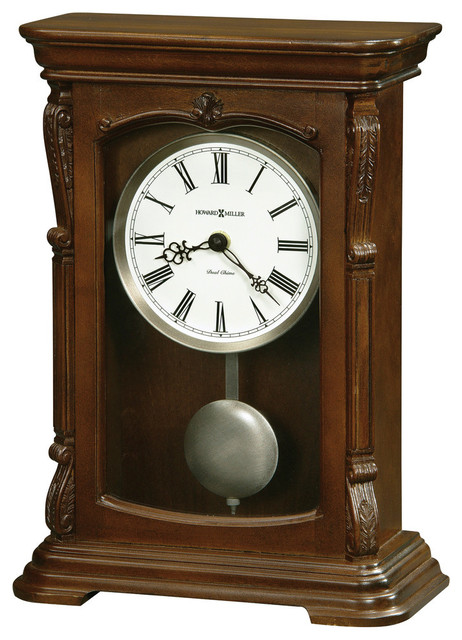 Antique Mantel Clocks >> Howard Miller Dual Chime Antique Mantel Clock Lanning Traditional