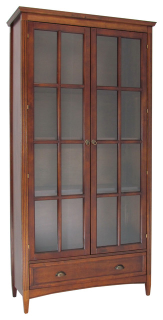 Bookcase With Glass Doors.