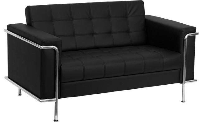 Outstanding Flash Furniture Hercules Lesley Series Contemporary Cognac Leather Loveseat Machost Co Dining Chair Design Ideas Machostcouk