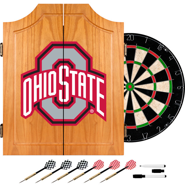 NCAA Wood Dart Cabinet Set - Contemporary - Darts And Dartboards - by Trademark Global