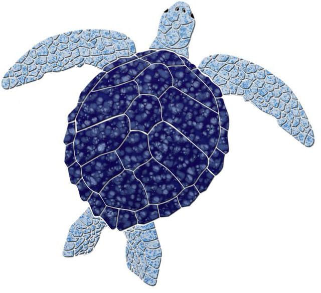 Sea Turtle 2 Ceramic Swimming Pool Mosaic 12\