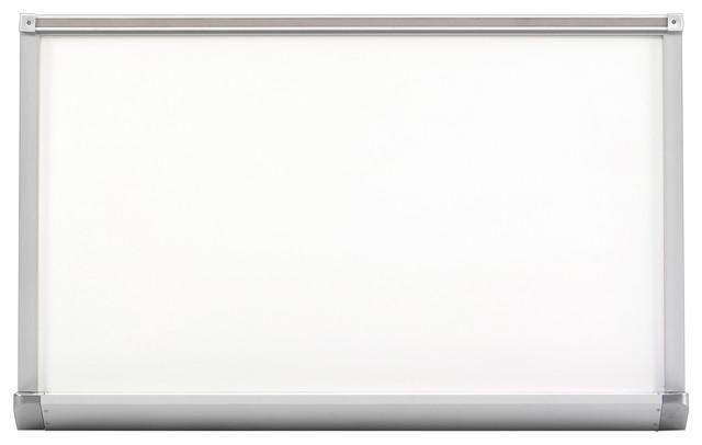 "Marsh Pro-Lite 48""x120"" White Porcelain Markerboard, Standard Aluminum Trim"