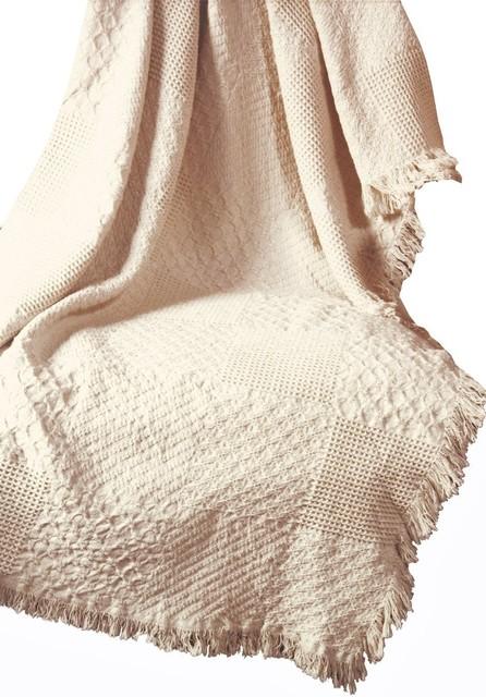 Textured Block-Nat 2-Layer Throw