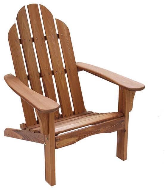 Folding Adirondack Chair Natural Wood Modern