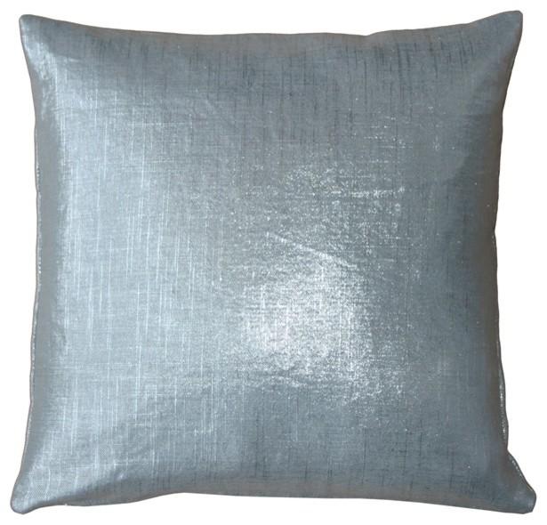 Pillow Decor Tuscany Linen Metallic Throw Pillow Contemporary Extraordinary Pillow Decor Ltd