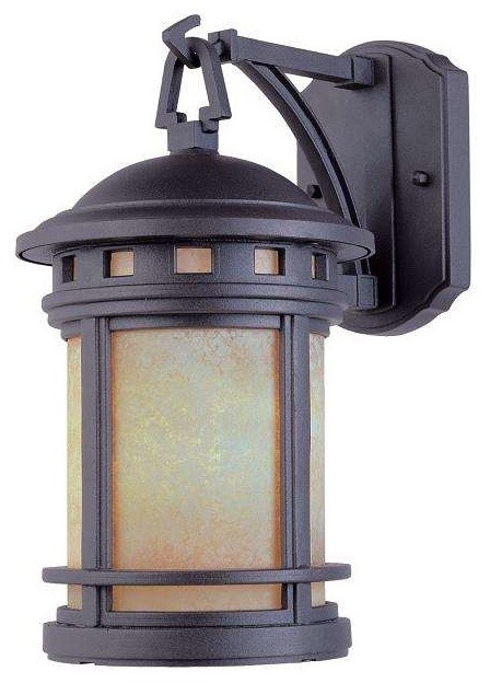 Designers Fountain 2391-Am-Orb Outdoor Wall Light In Oil Rubbed Bronze.
