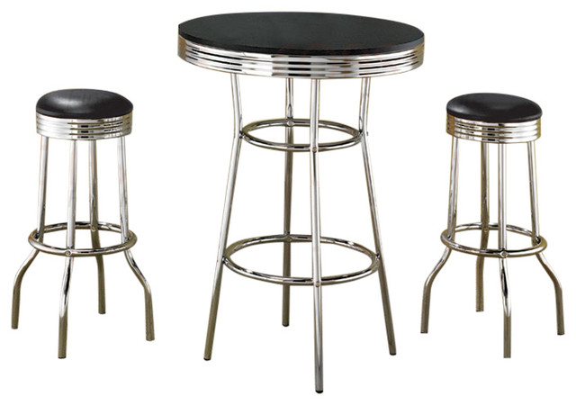 50 S Retro Soda Fountain Bar Table Set By Coaster