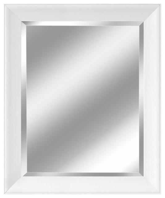 Contemporary White Mirror, 28.5x34.5.