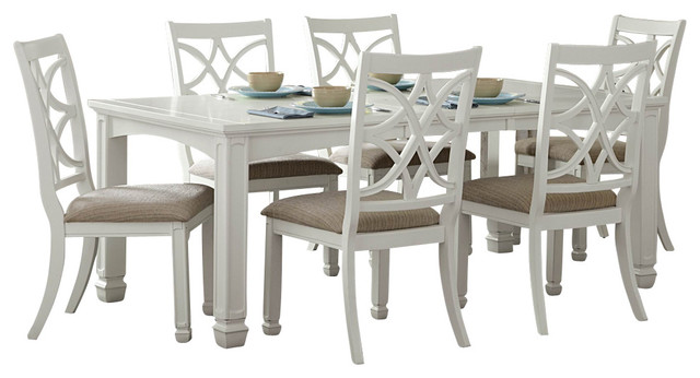 Genial Homelegance Kentucky Park 7 Piece Extension Dining Room Set In White