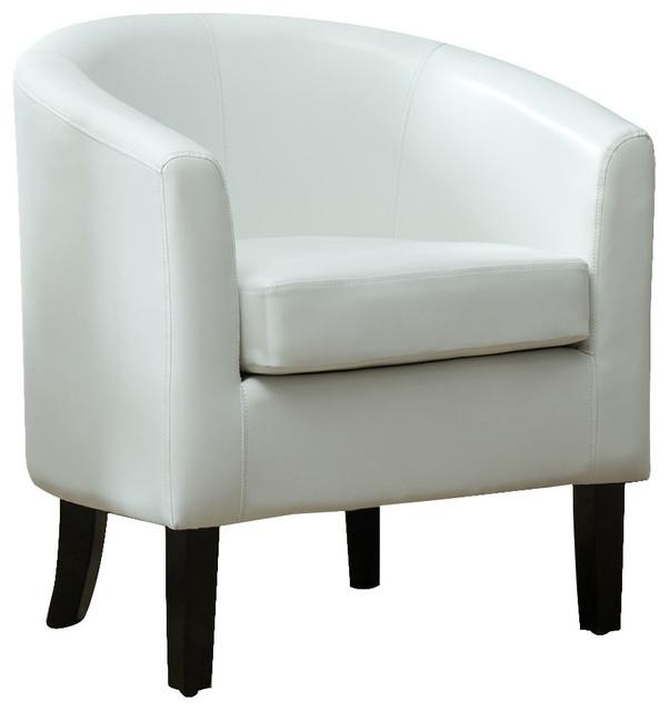 Modern Club Chair Barrel Design Faux Leather