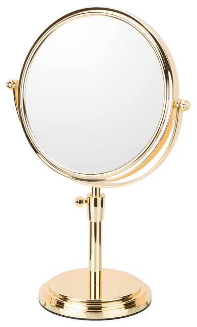 Classic Adjustable Freestanding Mirror, Rose Gold.