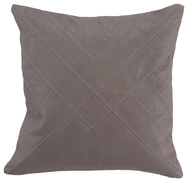 Kosas Home Sheffton 100% Leather Pillow - Southwestern - Decorative Pillows - by Kosas