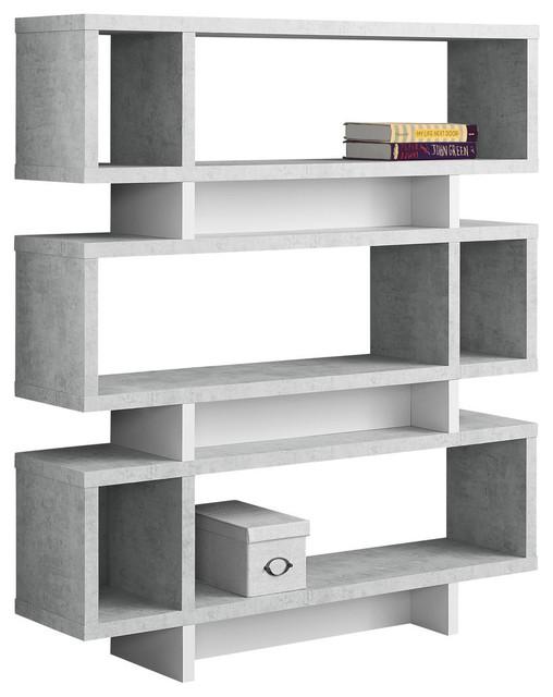 Modern Style Bookcase Gray