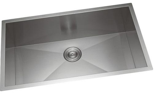 """23""""x18"""" Handmade Single Bowl Stainless Steel Undermount Kitchen Sink R0."""