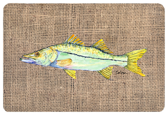 The store fish snook kitchen or bath mat 20x30 novelty for Fish bath mat