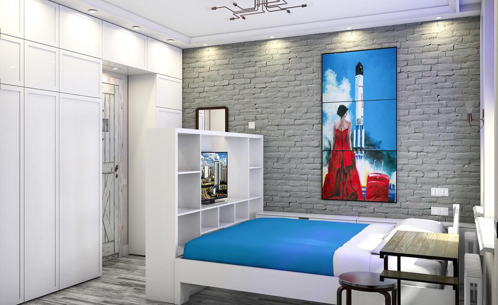 Квартира в американском стиле: спальня