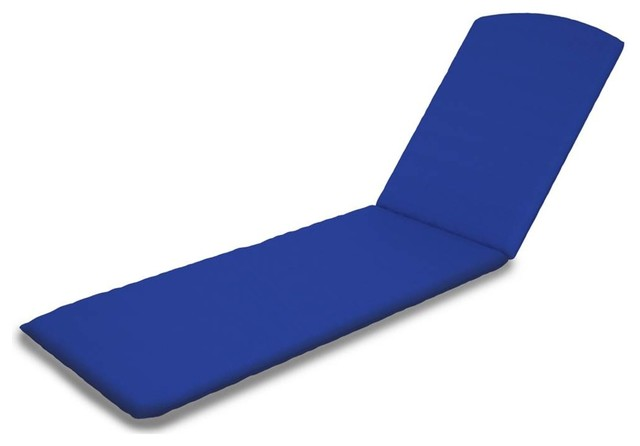 Chaise cushion navy contemporary outdoor cushions and for Blue chaise cushions