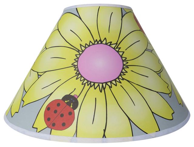 Presto lamp shades yellow gerber daisy flower with ladybug lamp yellow gerber daisy flower with ladybug lamp shade contemporary lamp shades mozeypictures Gallery