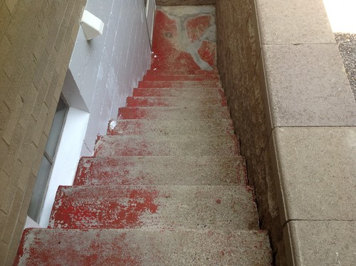help need to paint exterior concrete steps make them non skid advi