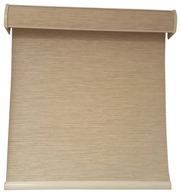 "70.5"" Wide Outside Mount Nova Linen Window Shade, Brown, 70.5""x84""."