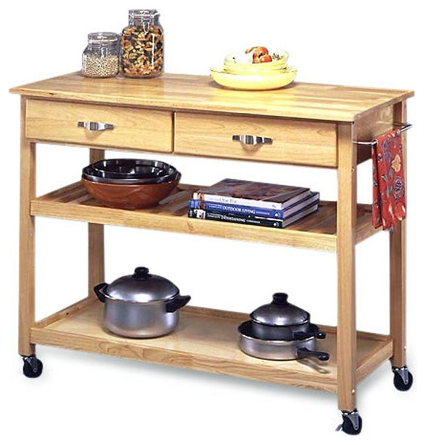modern kitchen cart utility table with locking casters
