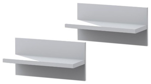 Liber-T Floating Shelves, 2 Piece, White