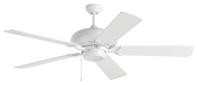 "Grand Prix 60"" Ceiling Fan White."