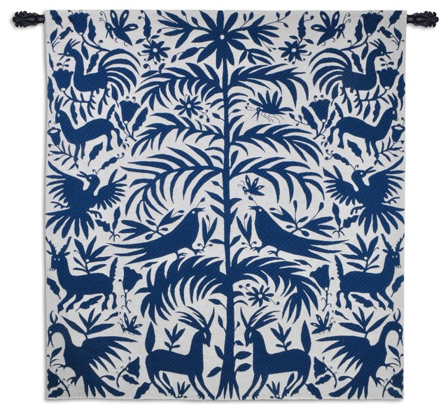 "Otomi Royal Wall Tapestry, 53""x58""."