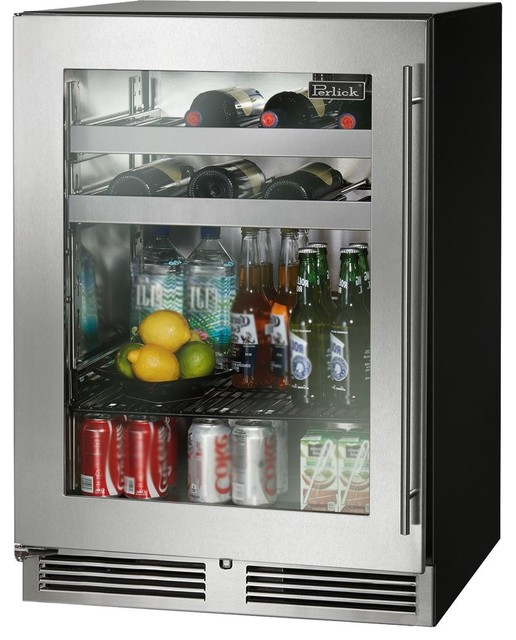 "Perlick C Series 24"" Built In Compact Beverage Center, Left Hinge."