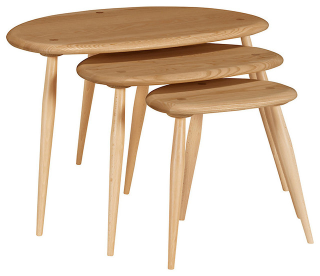 Ercol Kimble Nest Tables MampS Modern Side