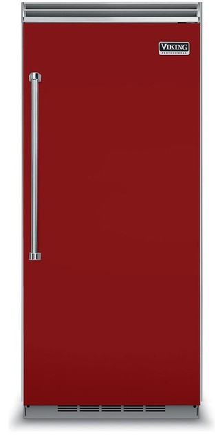 Viking Professional 36 Built In Counter Depth Refrigerator, Apple Red.