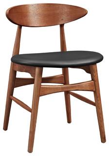 Modway Ebee Dining Chair, Walnut Black