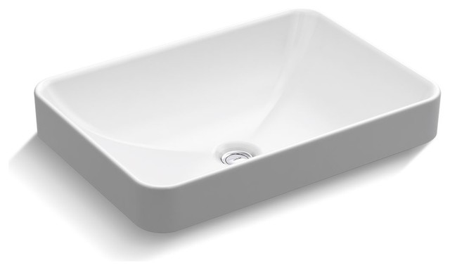 Kohler K 5373 22 5 8 Vox Rectangle Vessel Sink With Overflow
