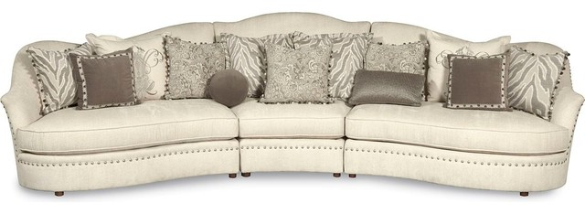 A R T Furniture Amanda Ivory Sectional Contemporary