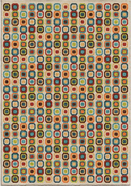 """Xander Indoor/outdoor Rug, Multicolor, 5&x27;2""""x7&x27;6""""."""