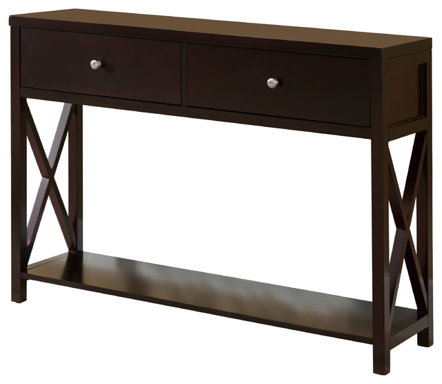Delicieux Leith Wood Console Table, Cherry