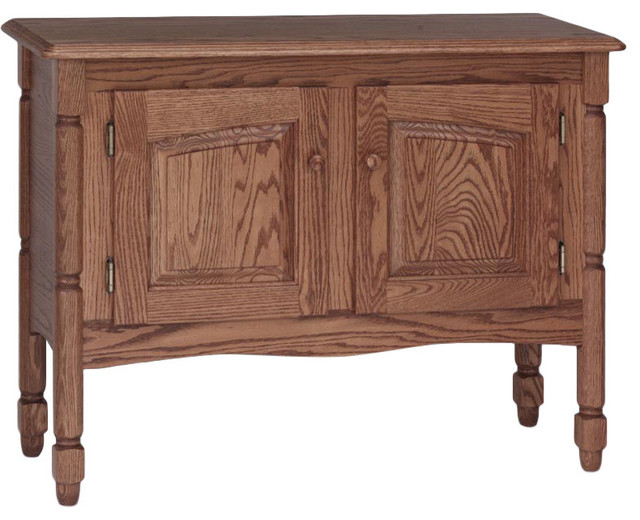 Solid Oak Country Style Sofa Storage Table Traditional Side Tables And End Tables By The
