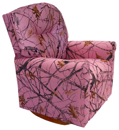 Contemporary  Snowfall  Pink Camouflage Child Rocker Recliner Chair contemporary-recliner-chairs  sc 1 st  Houzz & Contemporary