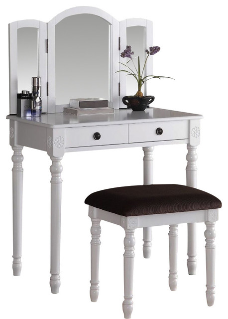 Remi 3-Piece Vanity Set, White.