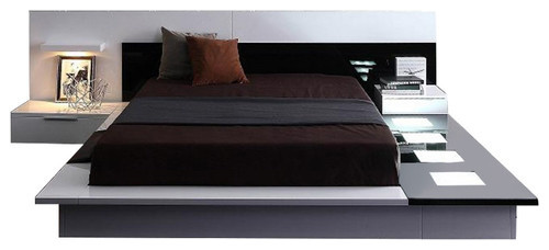 Modrest impera contemporary lacquer platform bed - Ultra contemporary bedroom furniture ...