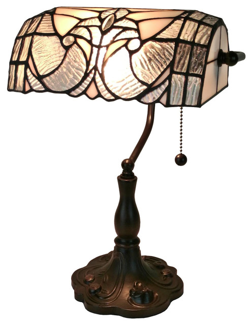 tiffany style floral banker table lamp 13 desk lamps by tiffany. Black Bedroom Furniture Sets. Home Design Ideas