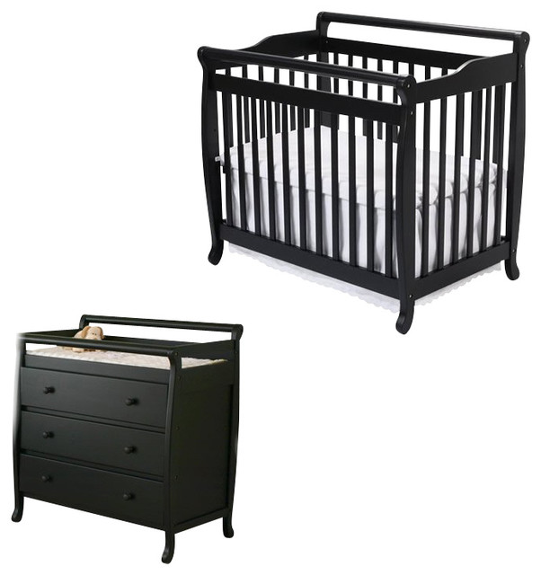 davinci emily mini 2in1 convertible wood baby crib set with changing table