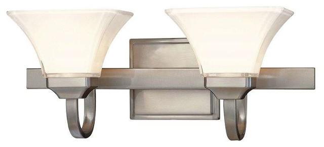 Minka Lavery 6812-84 Agilis Bathroom Light In Brushed Nickel.